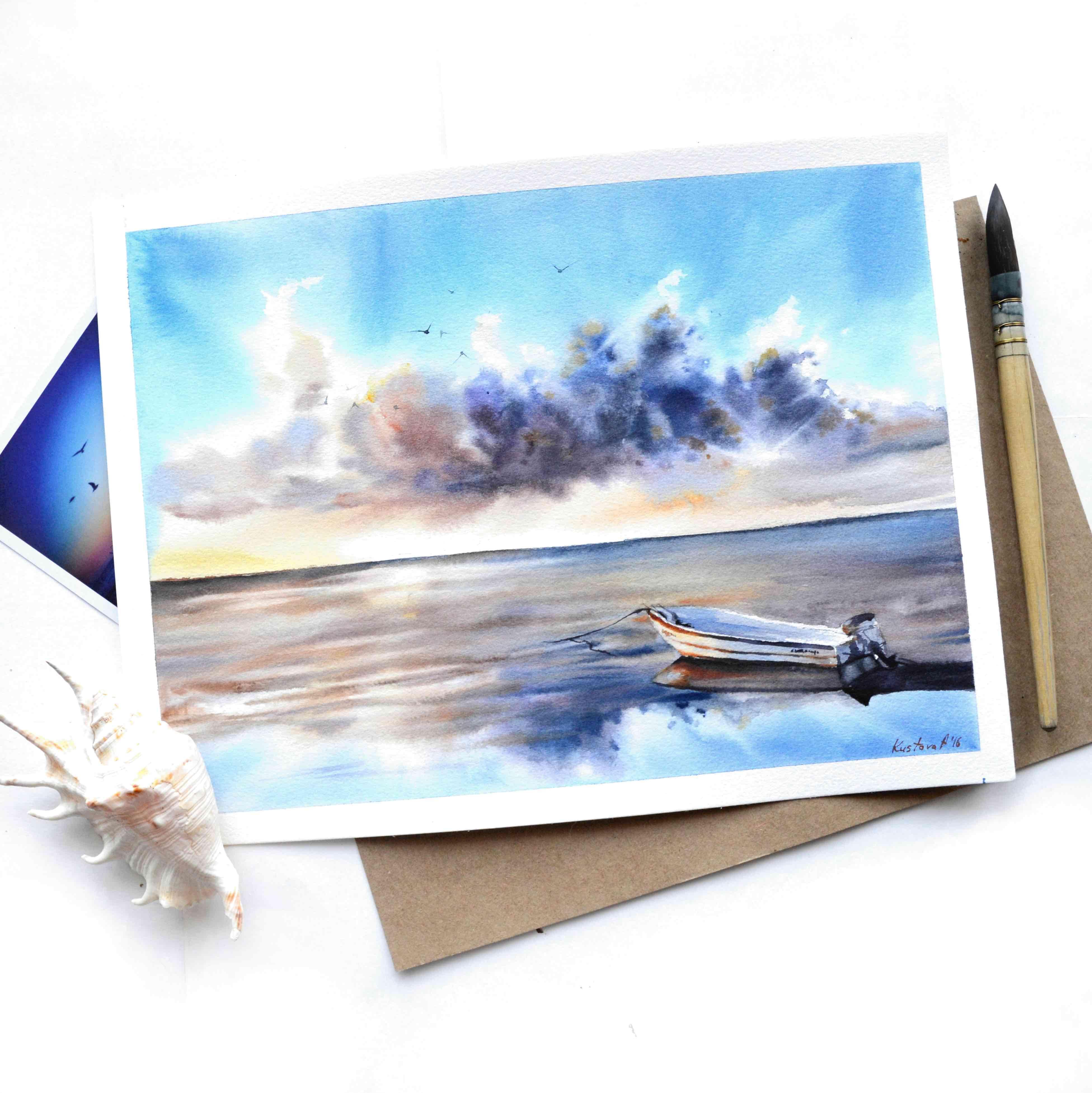Печать открыток на акварельной бумаге москва